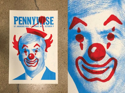 Pennywise Poster overlay. concert poster blue red