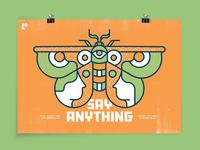 Say Anything Gig Poster