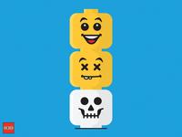 Lego Head Totem
