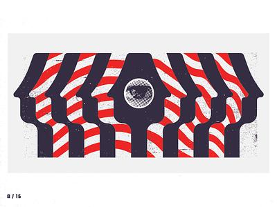 8 / 15 psychadelic illustration face red eye pattern