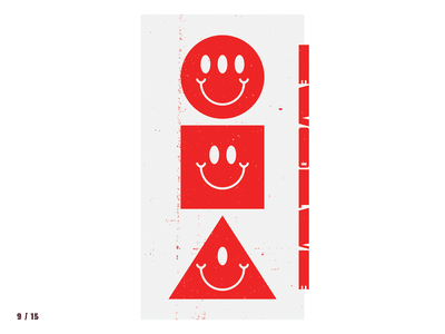 9 / 15 Shapes happy smiley smile evolve squares aliens red shapes