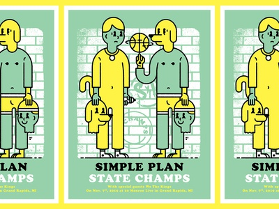 Simple Plan / State Champs Gig Poster