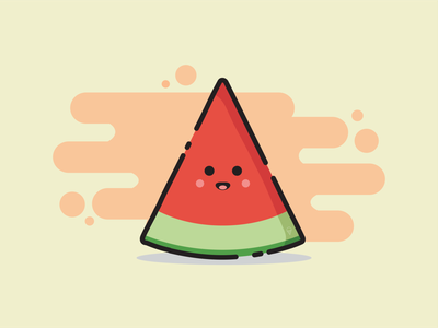 Watermelon illustration design