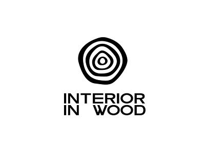 Interior in Wood magazine vector logotype logo branding