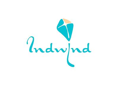 IndWind vector logotype branding logo