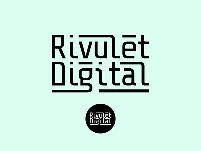 Rivulet Digital vector logotype logo branding