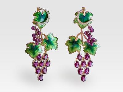 Grapes subject jewellery photography jewelry photo