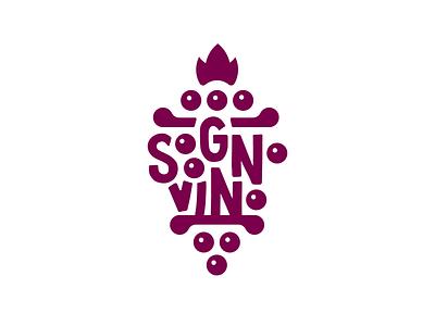 Sogno Vino italia vector logotype branding logo