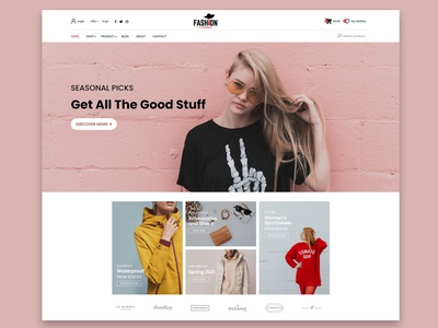 Fashion online shop website ux ui design
