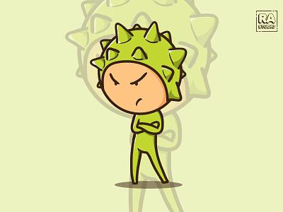 Durian Fruit Character durian fruit logo vector illustration drawing design cute cartoon illustration cartoon character