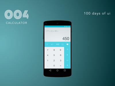 100 Days of UI - #004 Calculator