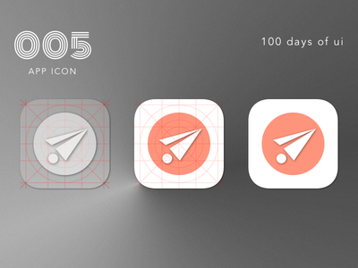 100 Days of UI - #005 App Icon paper logo interface icon flat dailyui ios fun design iphone ux ui