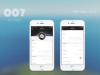 100 Days of UI - #007 Settings