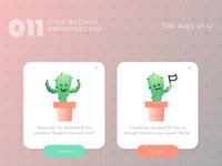 100 Days of UI - #011 Flash Message (Error/Success)