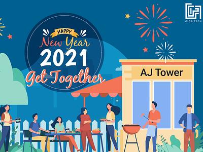 New Year Get Together ekyc .net job board branding javascript new year get together new year get together new year get together illustration design artificialintelligence