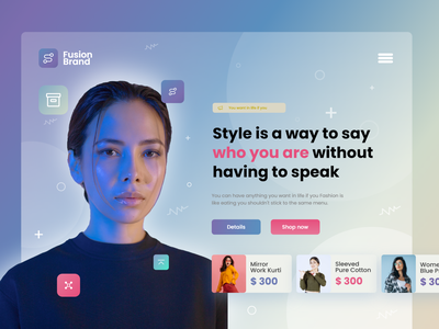 Fashion brand eCommerce landing page illustration design ui giga tech artificialintelligence landing page ecommerce delivery branding user experience ui design