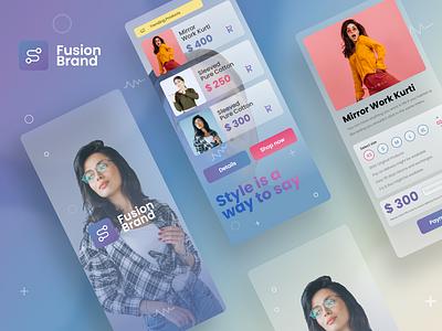 Fashion App - Mobile Design Concept branding artificialintelligence giga tech ux design app design ui trend booking app user experience user interface mobile app app interface ios app android app application design