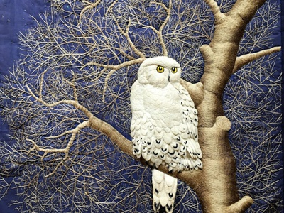 Owl Tapestry tapestry owl embroidery sayoko