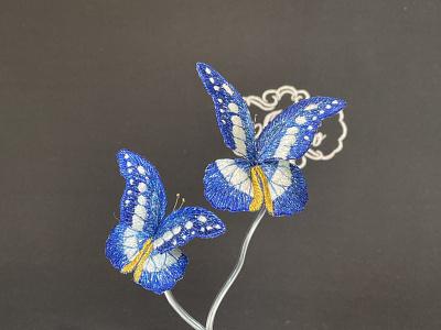 Morpho Rhetenor Helena sayoko brooch butterfly embroidery