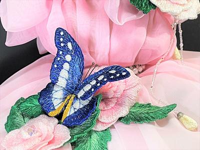 Morpho Rhetenor Helena accessories sayoko ネイル brooch butterfly embroidery