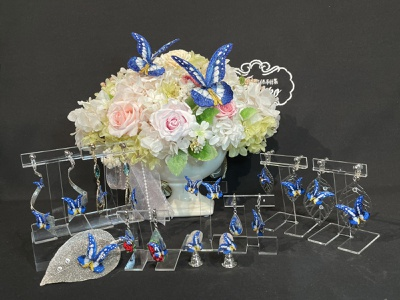 Morpho Rhetenor Helena accessories sayoko brooch butterfly embroidery