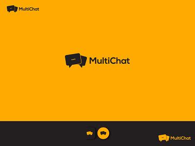MultiChat minimal wordmark logo design logo lettermark logo typography minimalist branding chat logo vector chat logo image chat logo png chat logo chatting chat app chatbot chat