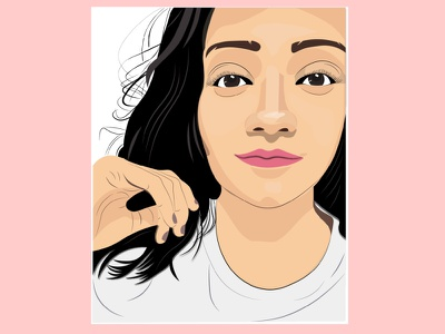Portrait Vector art illustrator vector portrait illustration design