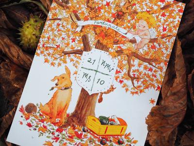 Autumn Wedding Illustration
