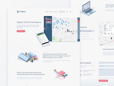 Dropon Landing Page - Light theme