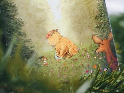 Bonnie - Birth card illustration