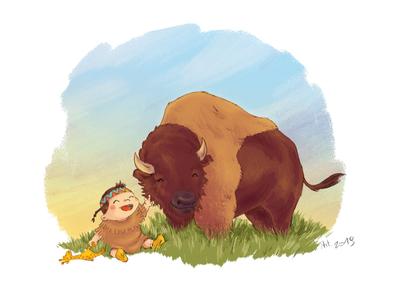 Anaïs - Birth card illustration