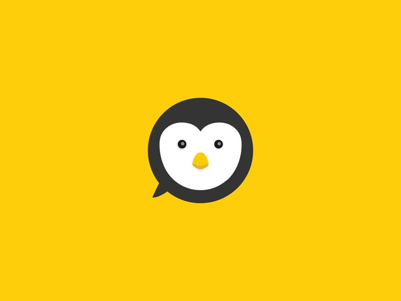 StoryMe Logo mascot brand identity speech balloon speech bubble illustrator vector penguin video strategy animation branding logo