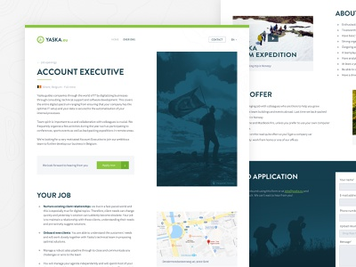 YASKA - Job Page job career branding desktop webdesign website yaska digitalization digital guide sketch