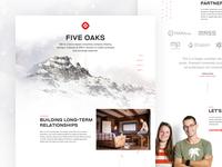 Five Oaks Landing Page