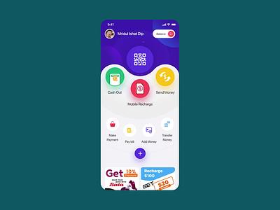 Mobile Banking App: ✈ Cash Out Process 2danimation gif animation cash ios ios app design app design banking mobile button cashout swipe pin number amount ux uiux ui minimal creative pigeon
