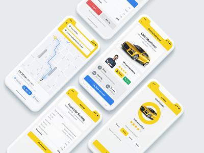 🚗 Car Tracking and Reviews - iOS App invoice ios app design ios design freedback location driver clean booking uiux ui ux minimal app design mobile app creative pigeon