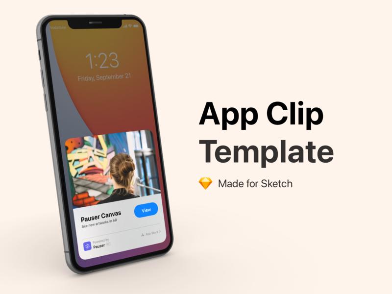 App Clip Template app ui free template iphone ios14 freebie sketch appclip clip app