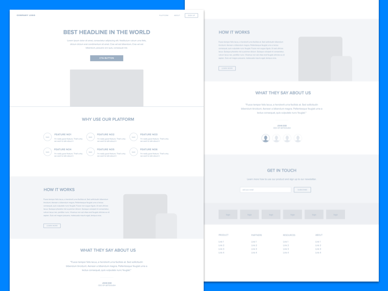 Freebie! Sketch Landing Page Wireframe download page landing wireframe sketchapp file free freebie sketch