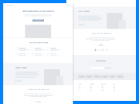 Freebie! Sketch Landing Page Wireframe
