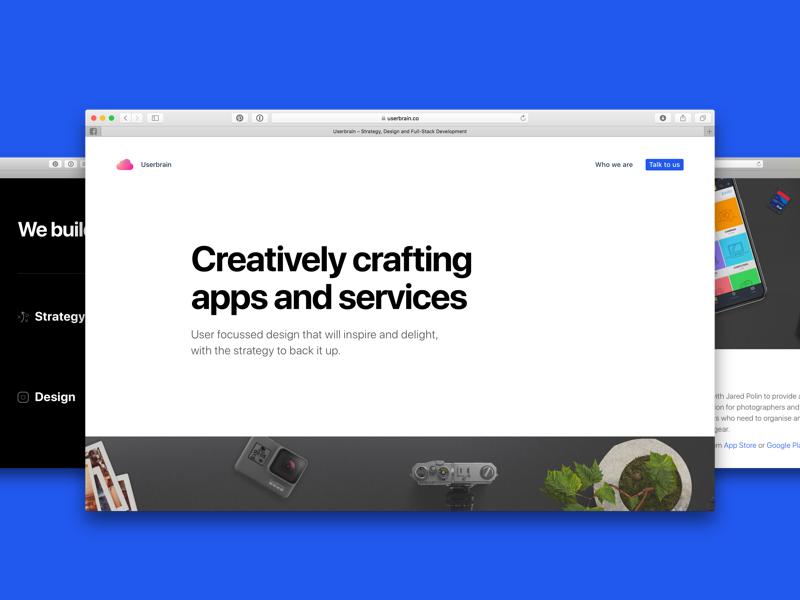 Userbrain.co website london agency creative hompage white simple web landing page