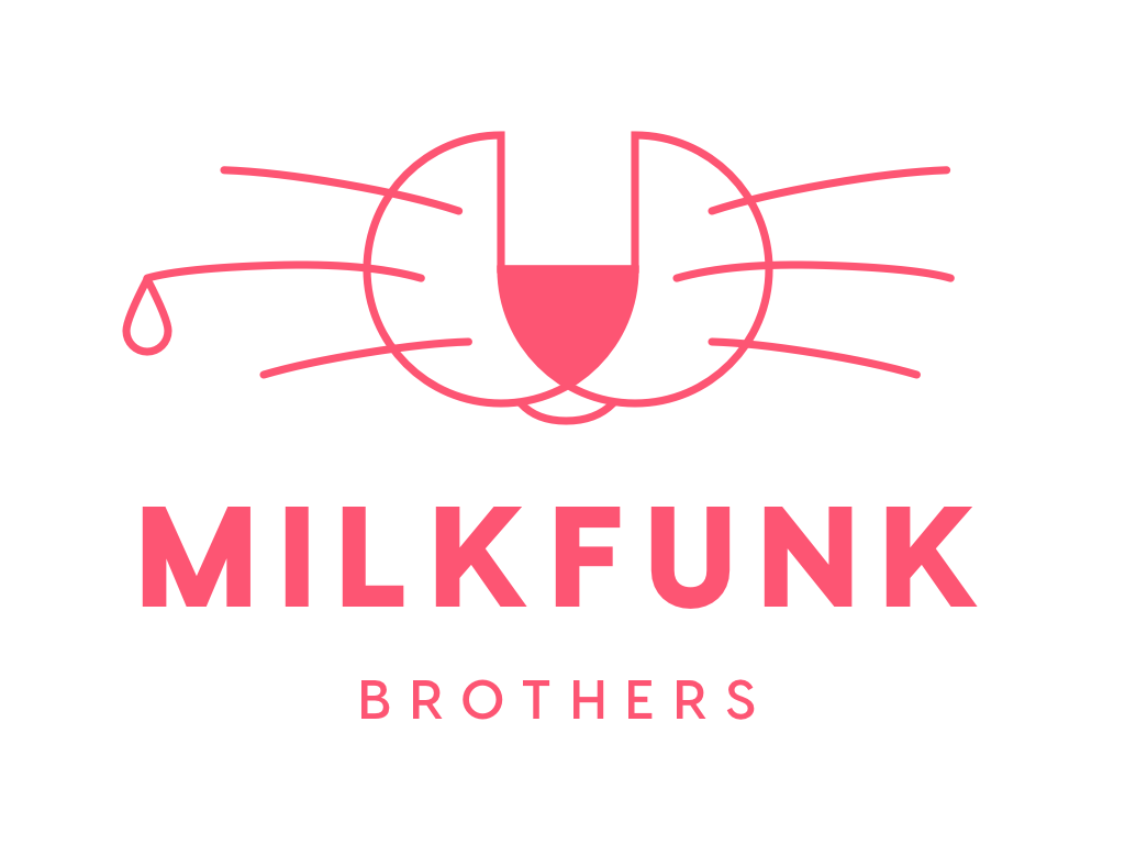 Milkfunk design branding brand funk milk red simple logo