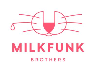 Milkfunk design branding brand funk milk red simple logo