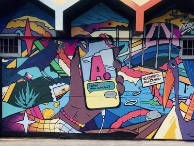 AR Streetart by Pauser graffiti streetart augmented augmentedreality iphone x iphone mobile ios iphone mobile