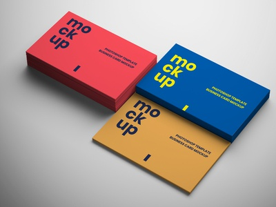 3 in 1 Business Card Mockups