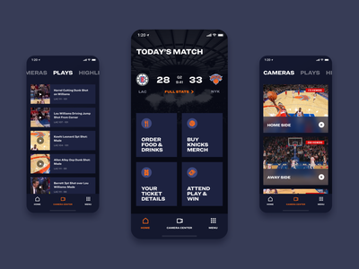 Smart Stadium - Home typography icons video camera nba sport stadium app ux ui