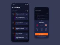 Smart Stadium - Events game video typography sport nba icons camera ui ux app