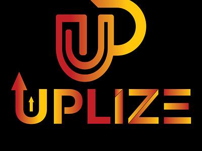 Uplize logo tshirt design tshirt graphic design brand identity brand branding design stationery illustrator illustration minimal business card logo designer logo design logo