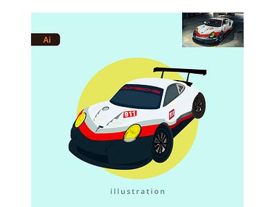 Car Illustration front view adobe illustrator car illustration car portfolio illustration graphic design