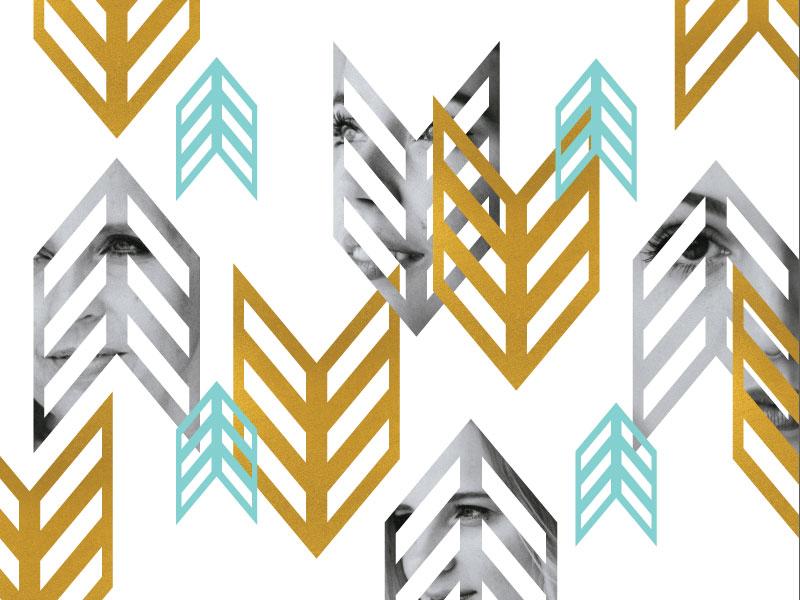 Brave Pattern women design tribal brave tiffany blue gold foil photography pattern arrow