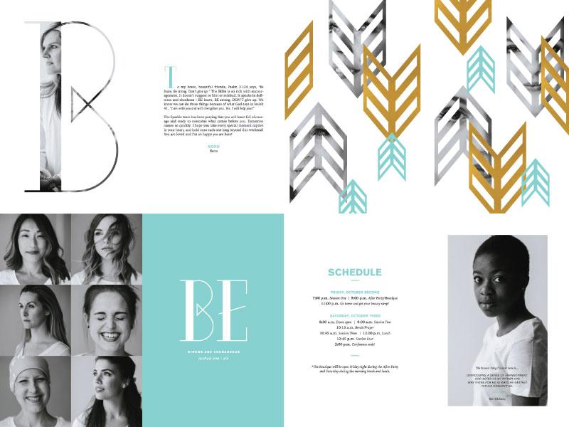 Sparkle Program pattern arrow gold brave typography church sparkle layout booklet program